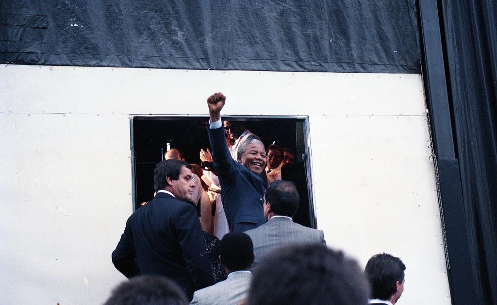 Nelson Mandela, Montréal, 19 June 1990.