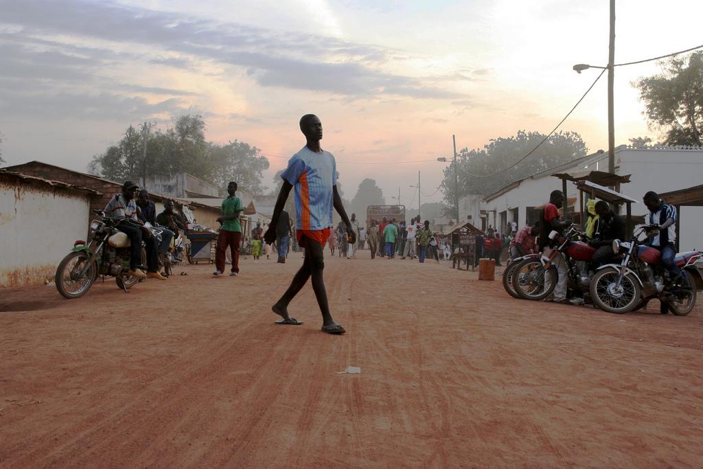 Main street, Paoua, northwest Central African Republic (CAR).