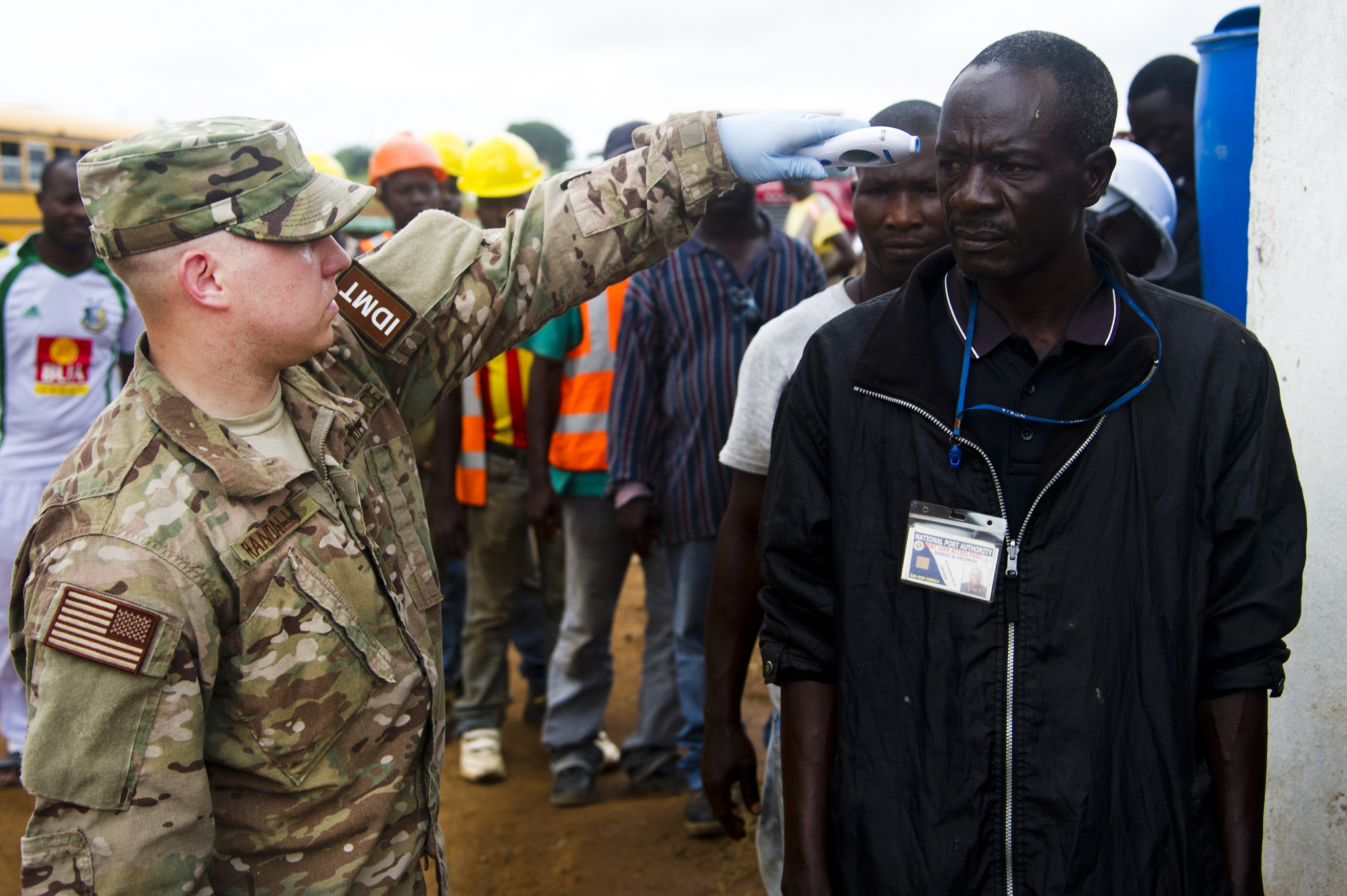 U.S. Air Force Airman supporting Operation United Assistance