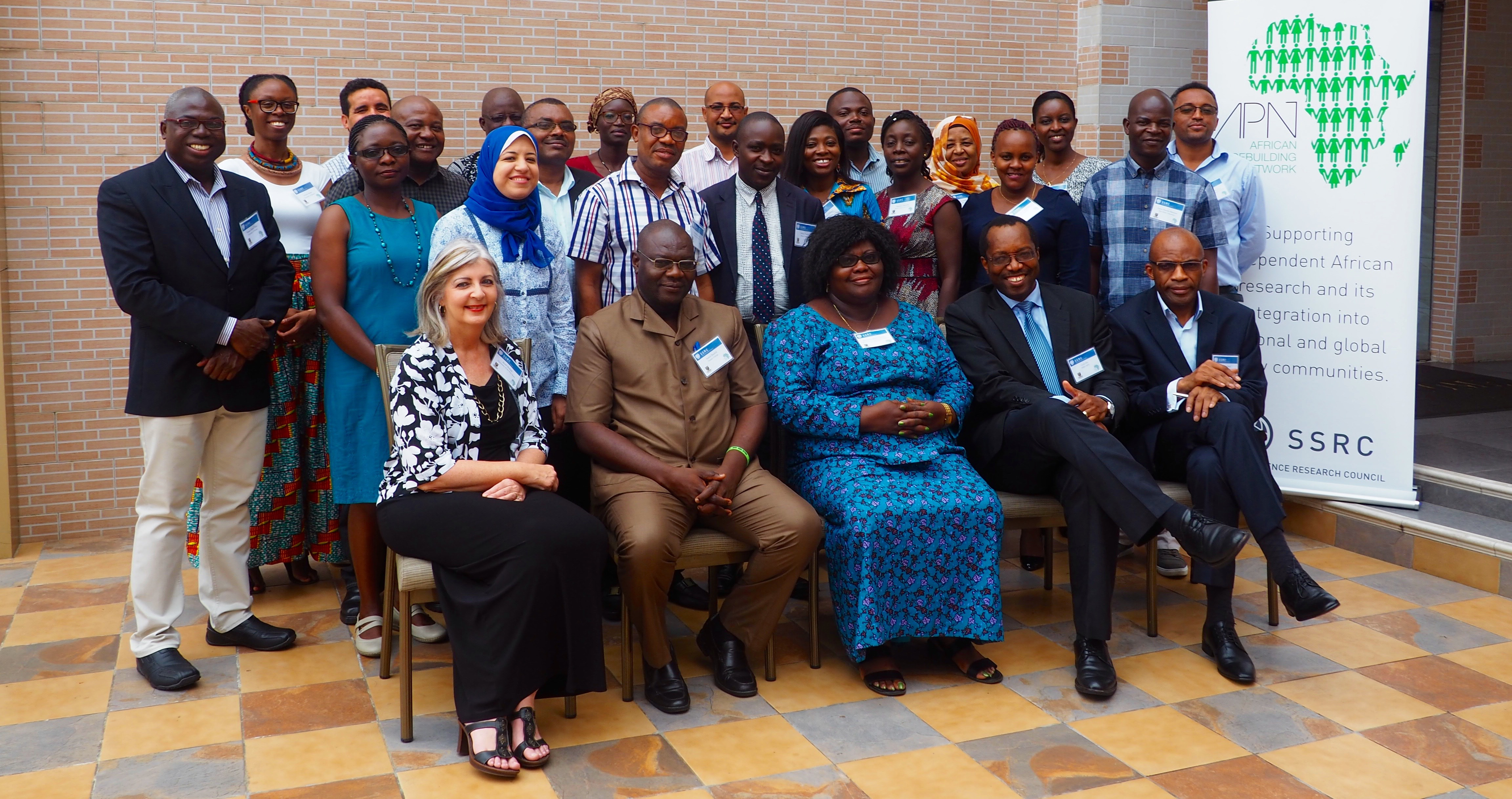 Group photo of the 2017 APN IRG Recipients in Accra, Ghana.