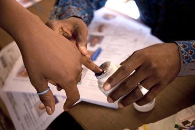 Malians vote in the 2013 presidential elections at the Ecole de la Republique in Bamako. Photo MINUSMA/Marco Dormino