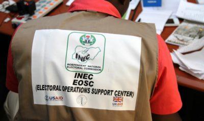 INEC staff at the Garki Abuja Election Operation Support Center - photo by U.S. Embassy Nigeria / Idika Onyukwu