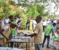 Voting in progress during 2015 presidential election in Abuja