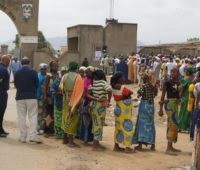 People waiting to cast their vote in the 2011 elections in Nigeria. Photo by Commonwealth Secretariat.