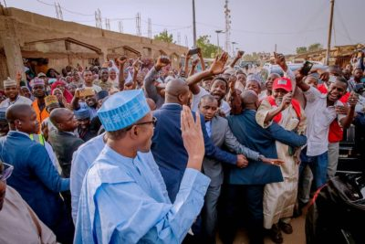 President Muhammadu Buhari casts their vote in the Governorship and House of Assembly elections in Daura, Katsina State. March 2 2019